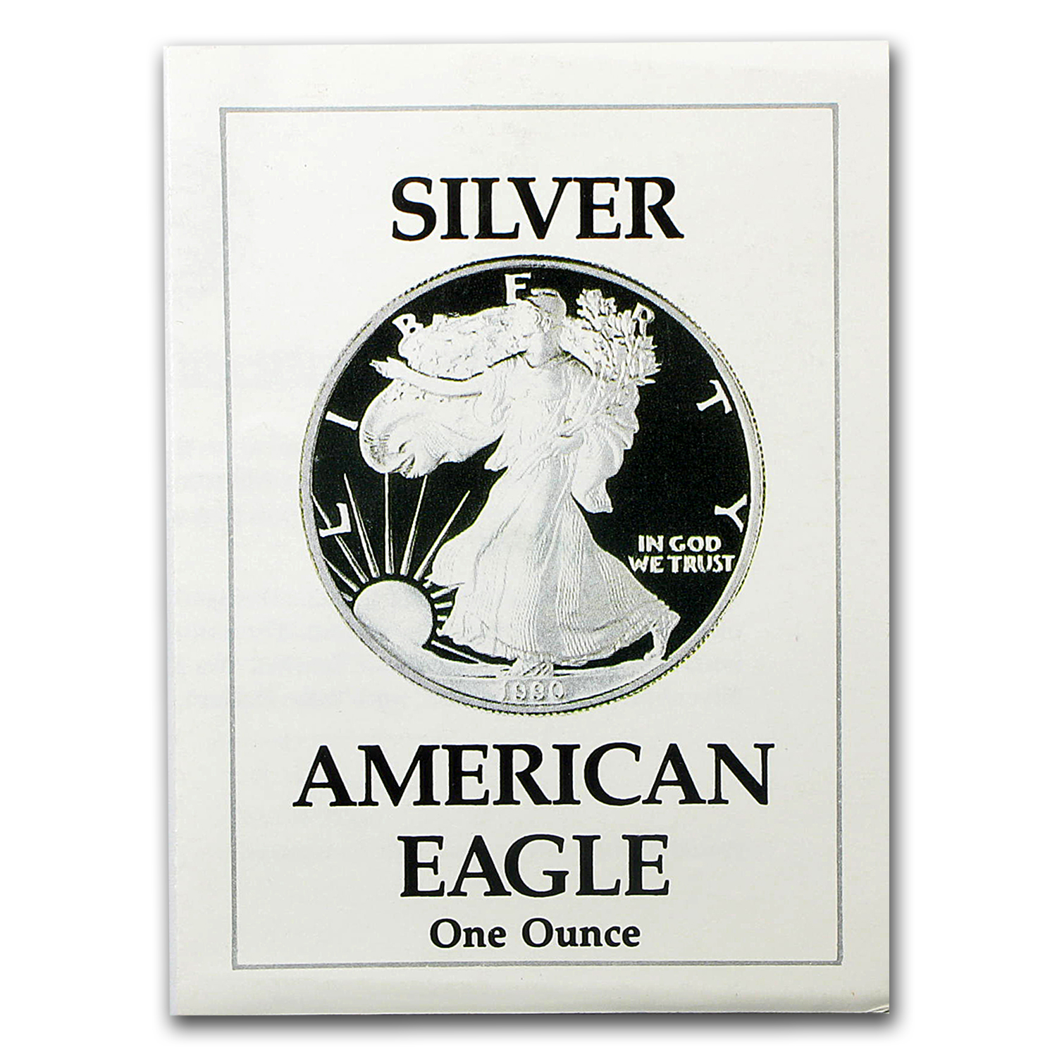 COA - 1990 US Mint 1 oz Silver American Eagle (Proof)