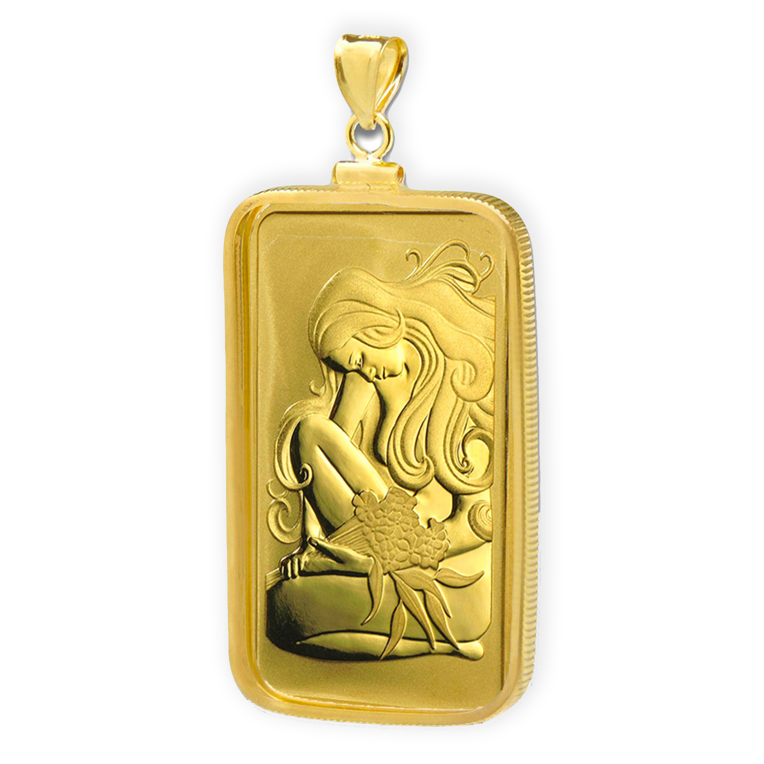 1 oz Gold Bar - Perth Mint Oriana Bar Pendant