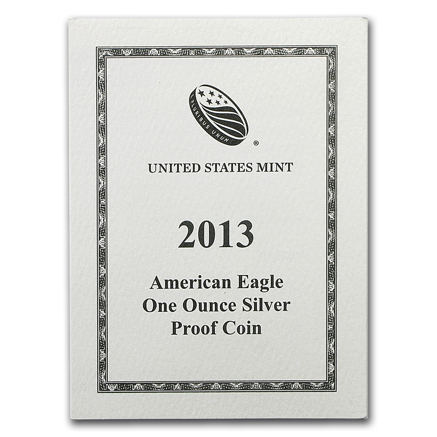 COA - 2013 US Mint 1 oz Silver American Eagle (Proof)