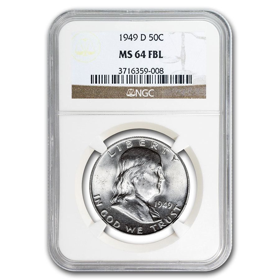 1949-D Franklin Half Dollar MS-64 NGC (FBL)
