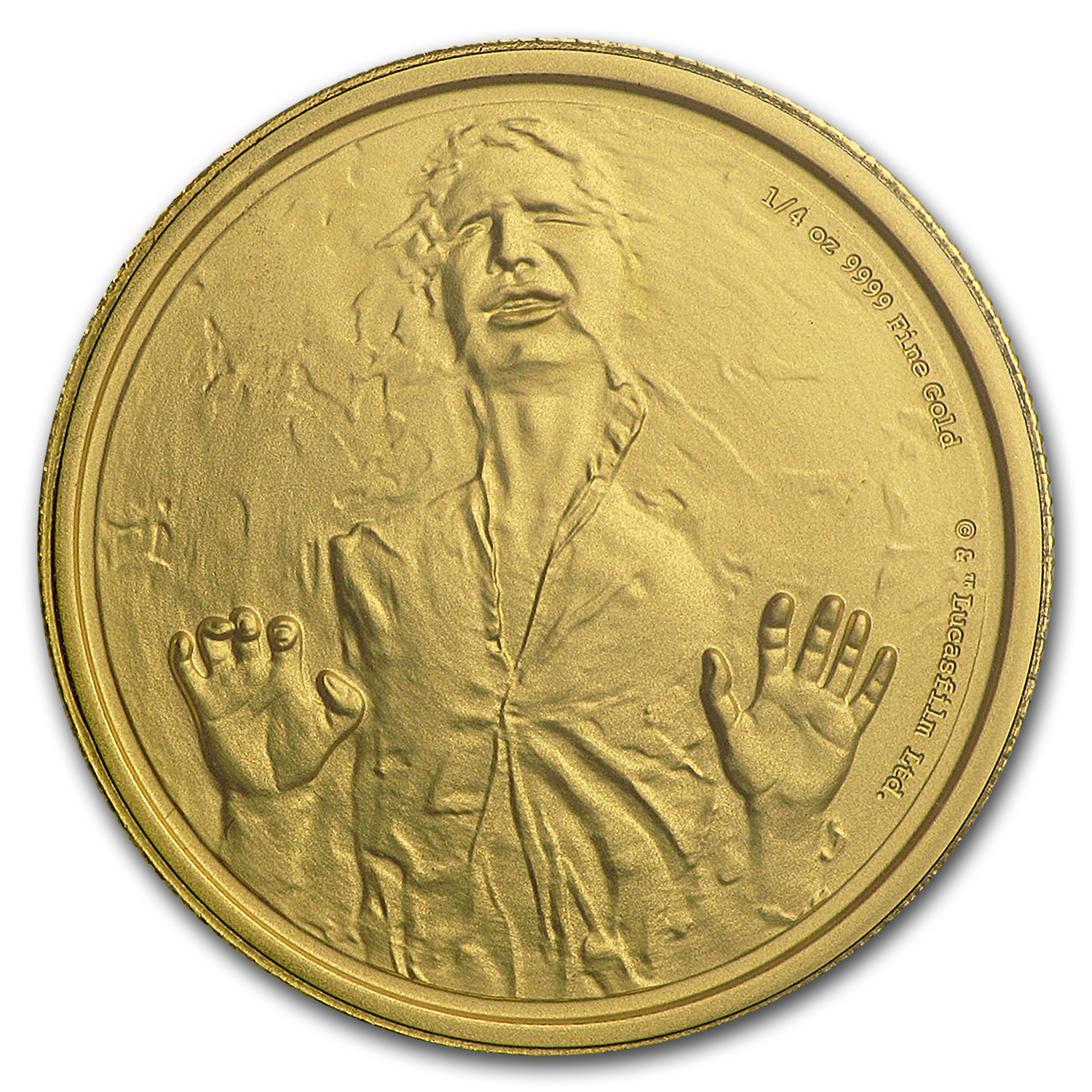 2016 Niue 1/4 oz Gold $25 Star Wars Han Solo Proof (Box & COA)