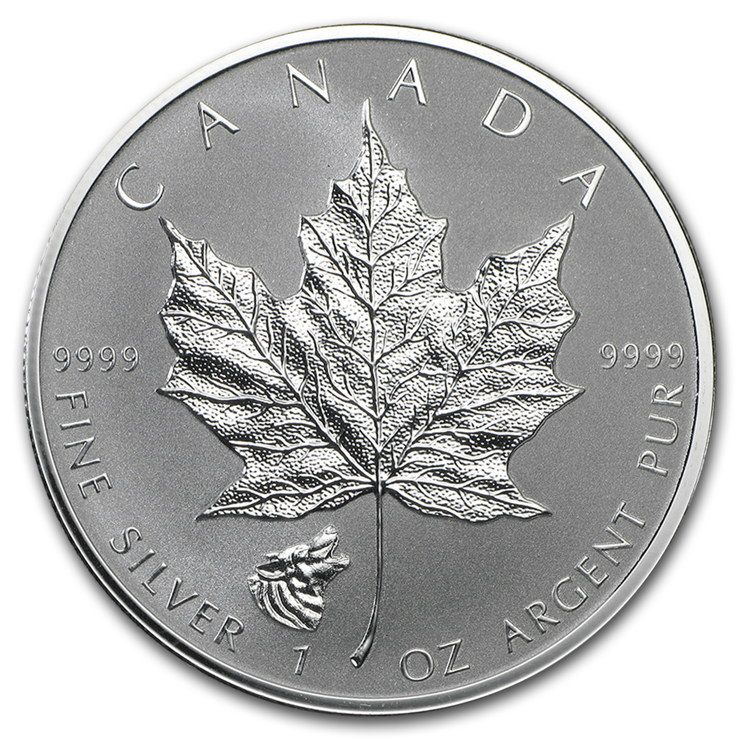 2016 Canada 1 oz Silver Maple Leaf Wolf Privy Reverse Proof
