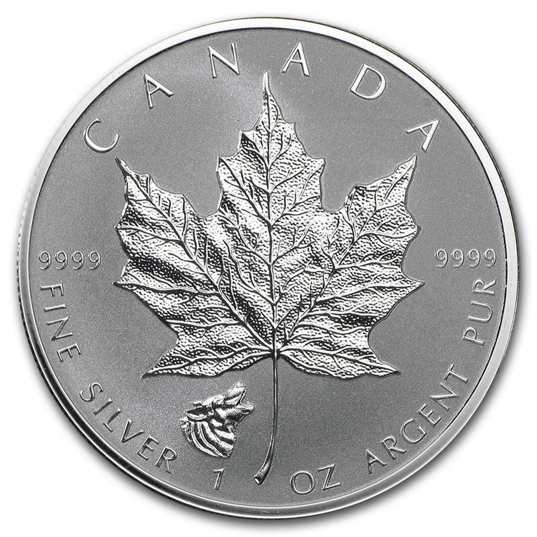 2016 Canada 1 Oz Silver Maple Leaf Lunar Wolf Privy Rcm
