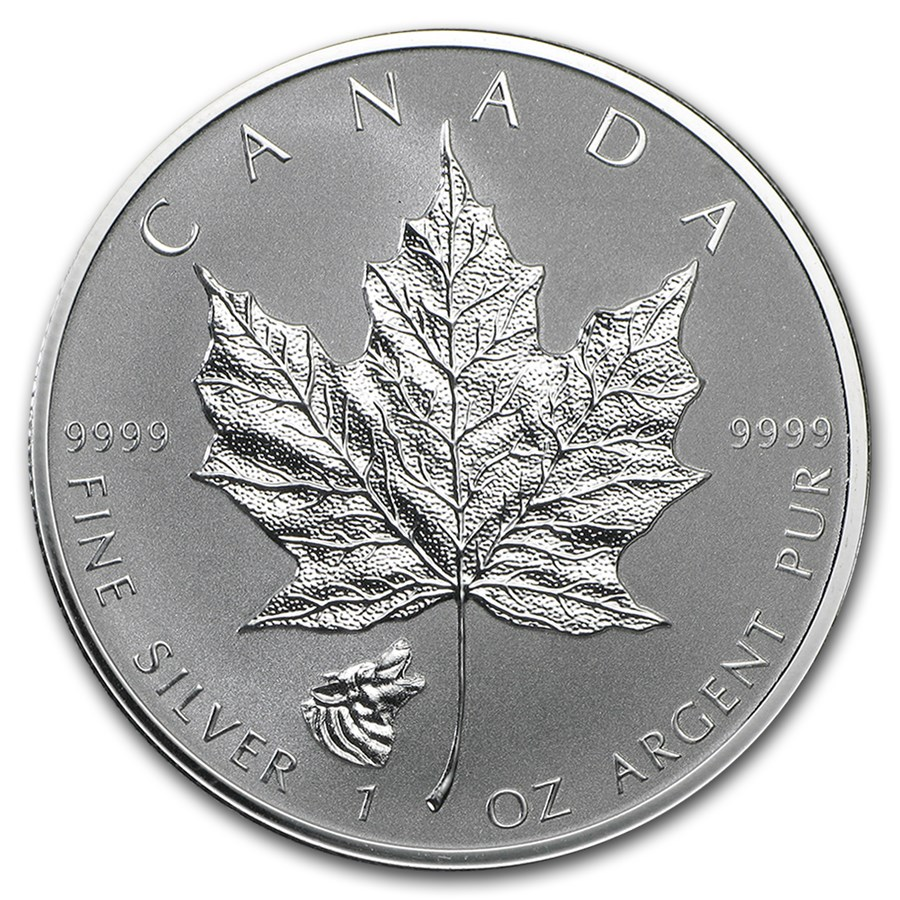 2016 Canada 1 oz Silver Maple Leaf Lunar Wolf Privy | RCM ...