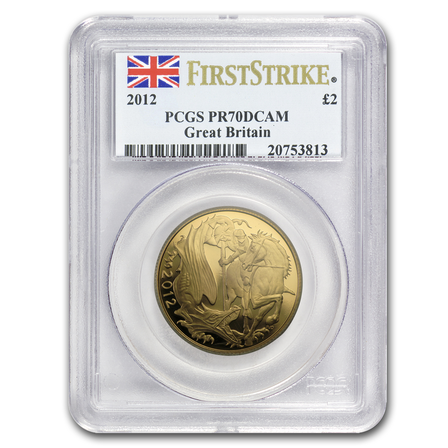 2012 Great Britain Gold Double Sovereign PR-70 PCGS