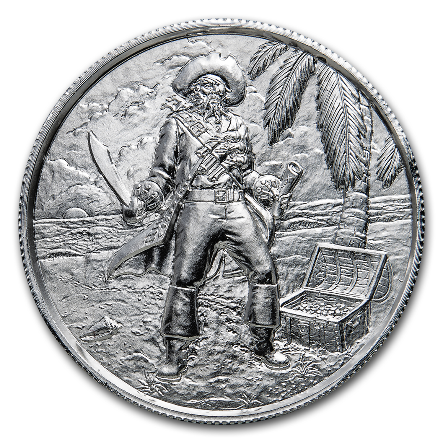 2 oz Silver Round - The Captain (Ultra High Relief)