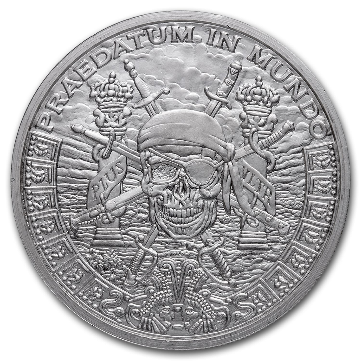 1 oz Silver Shield Round - Pieces of Eight