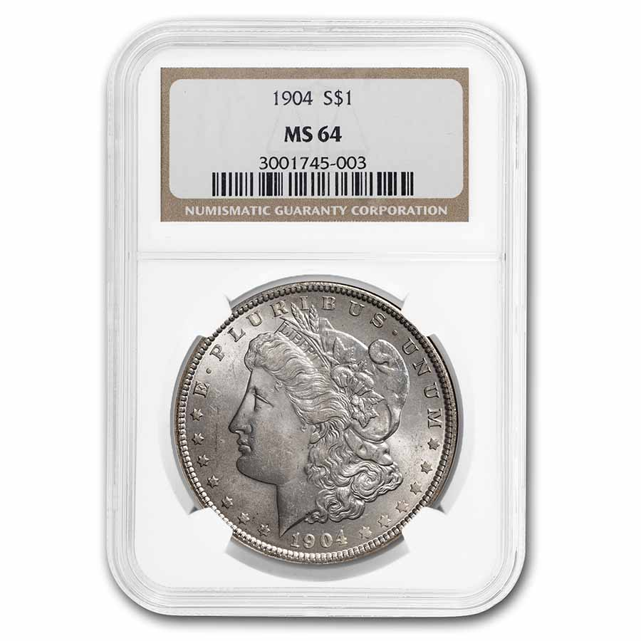 1904 Morgan Dollar MS-64 NGC