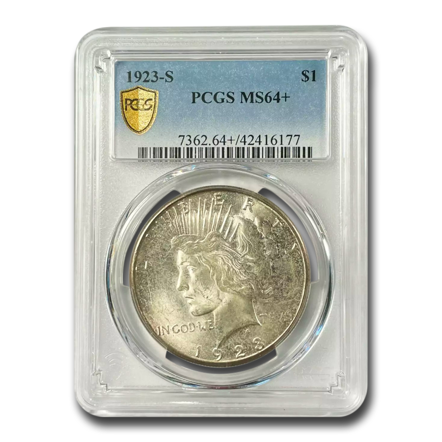 1923-S Peace Dollar MS-64+ PCGS