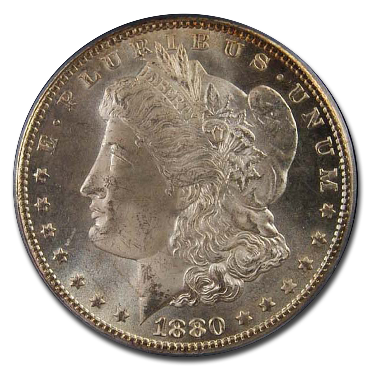 1880-CC Morgan Dollar 8/Low 7 Morgan Dollar MS-65 PCGS