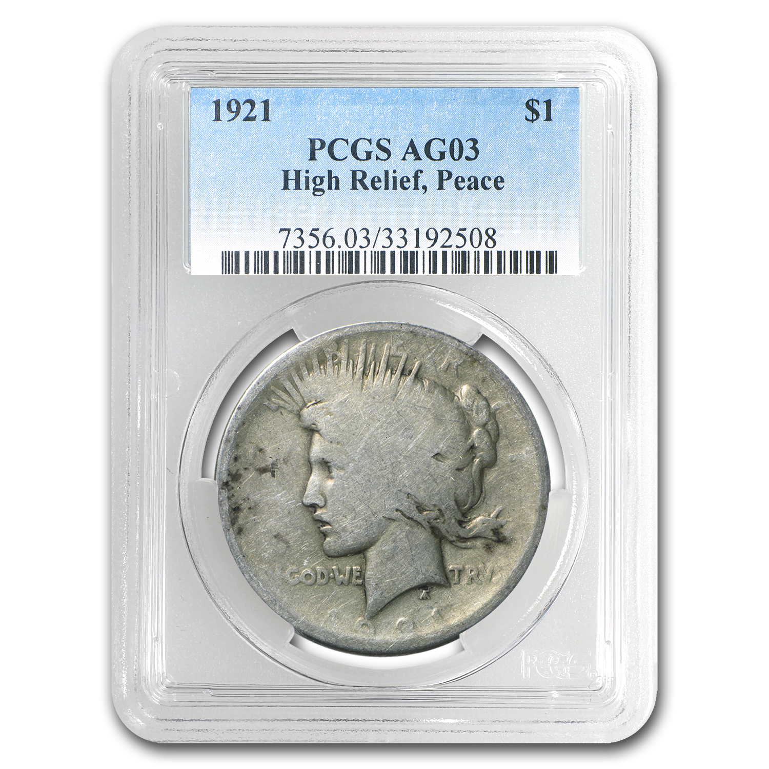 1921 Peace Dollar AG-3 PCGS (Low Ball Registry)
