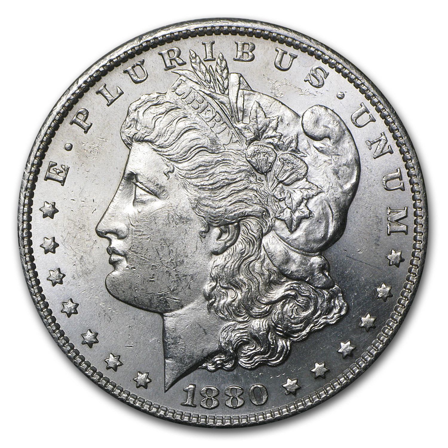 1880 S Morgan Dollar Bu Morgan Dollars 1878 1904
