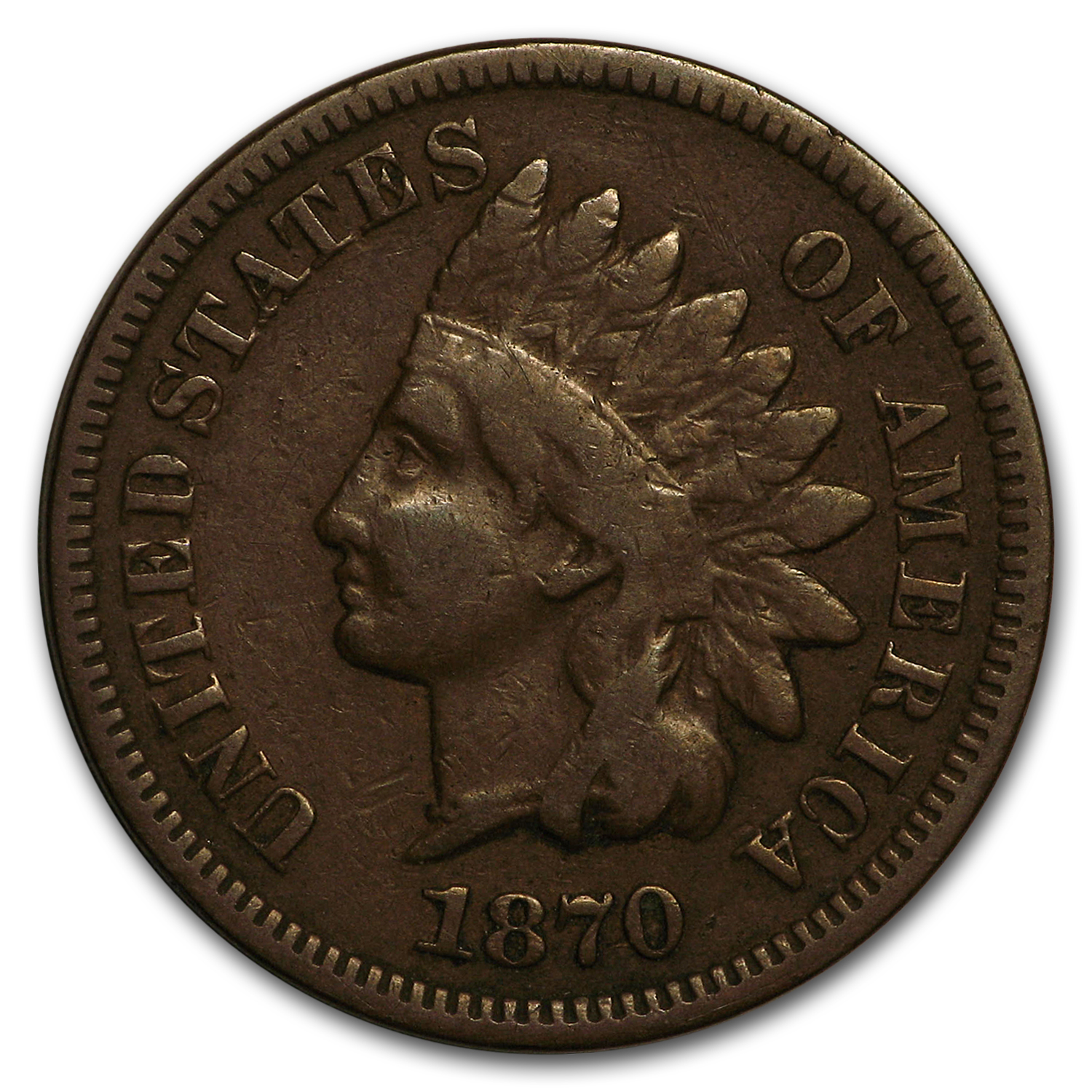 1870 Indian Head Cent Fine