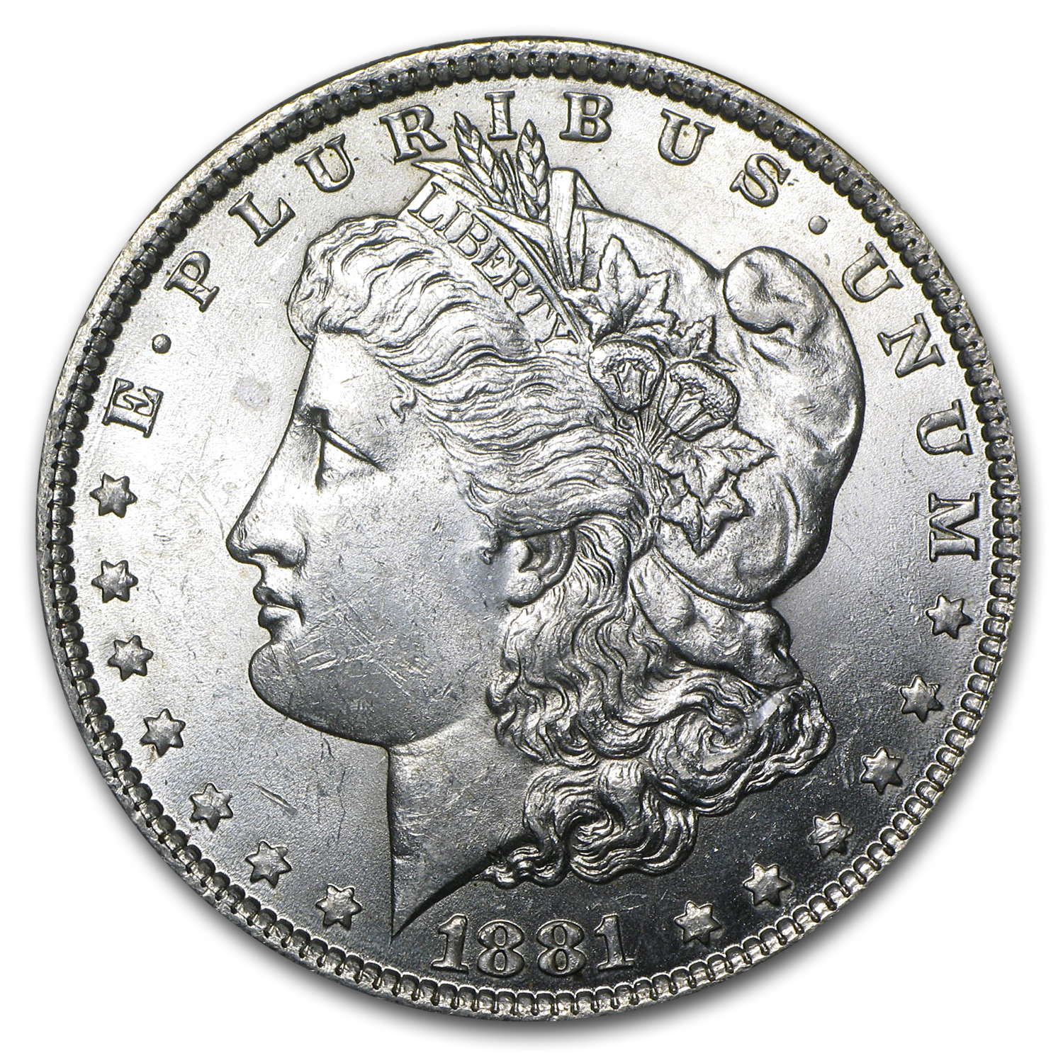 1881-O Morgan Silver Dollar BU