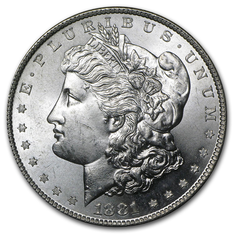 1881 S Morgan Dollar Bu Morgan Dollars 1878 1904