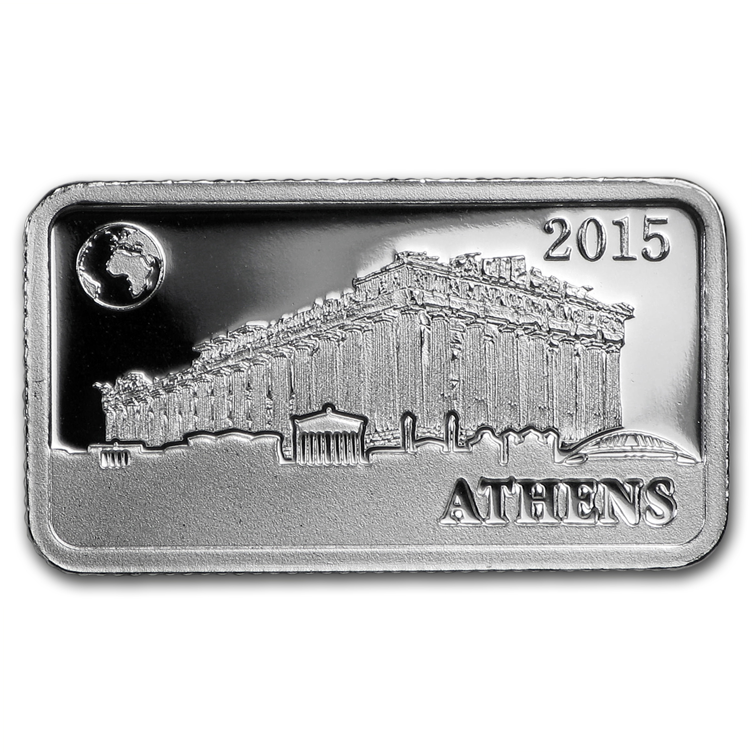 2015 Solomon Islds 2.5 gr Silver Landmarks of the World (Athens)