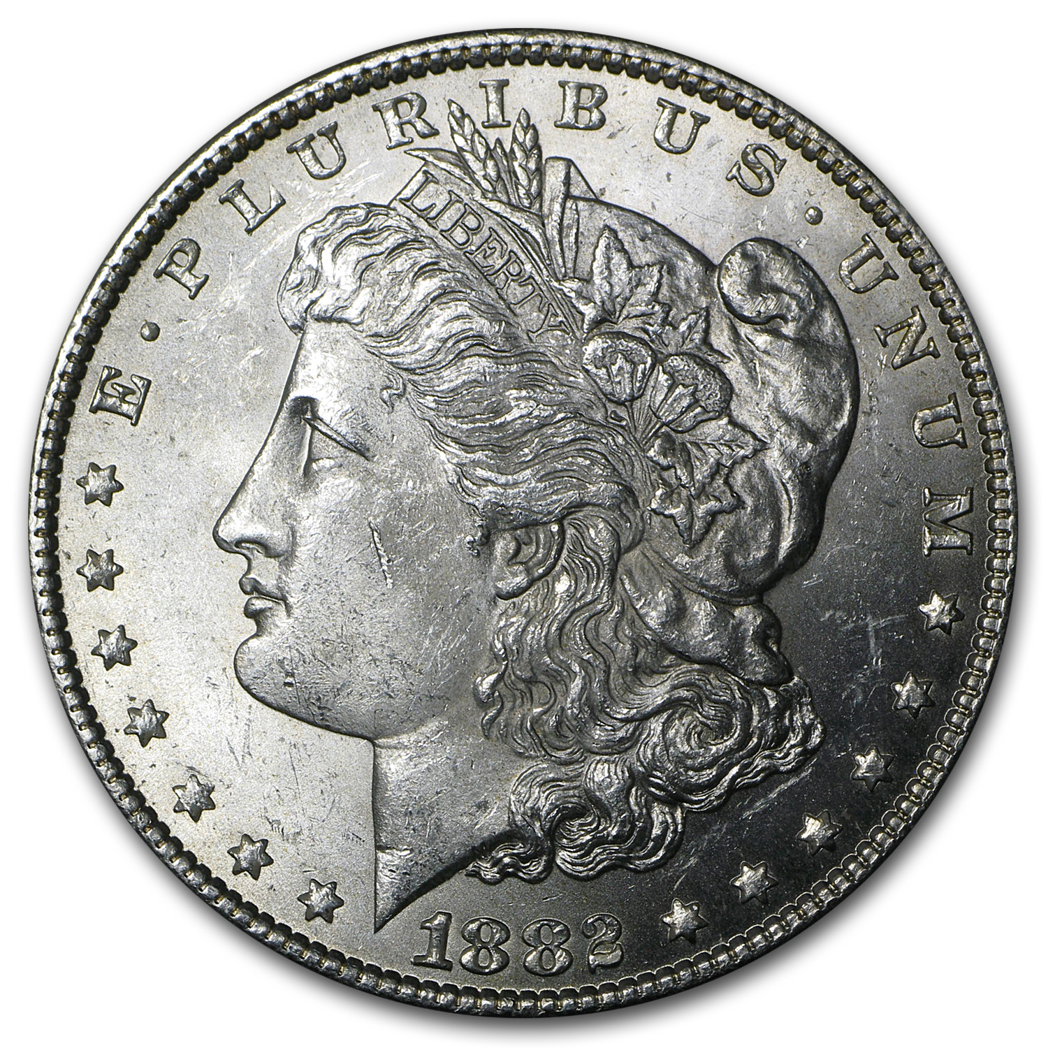 1882 Morgan Silver Dollar BU