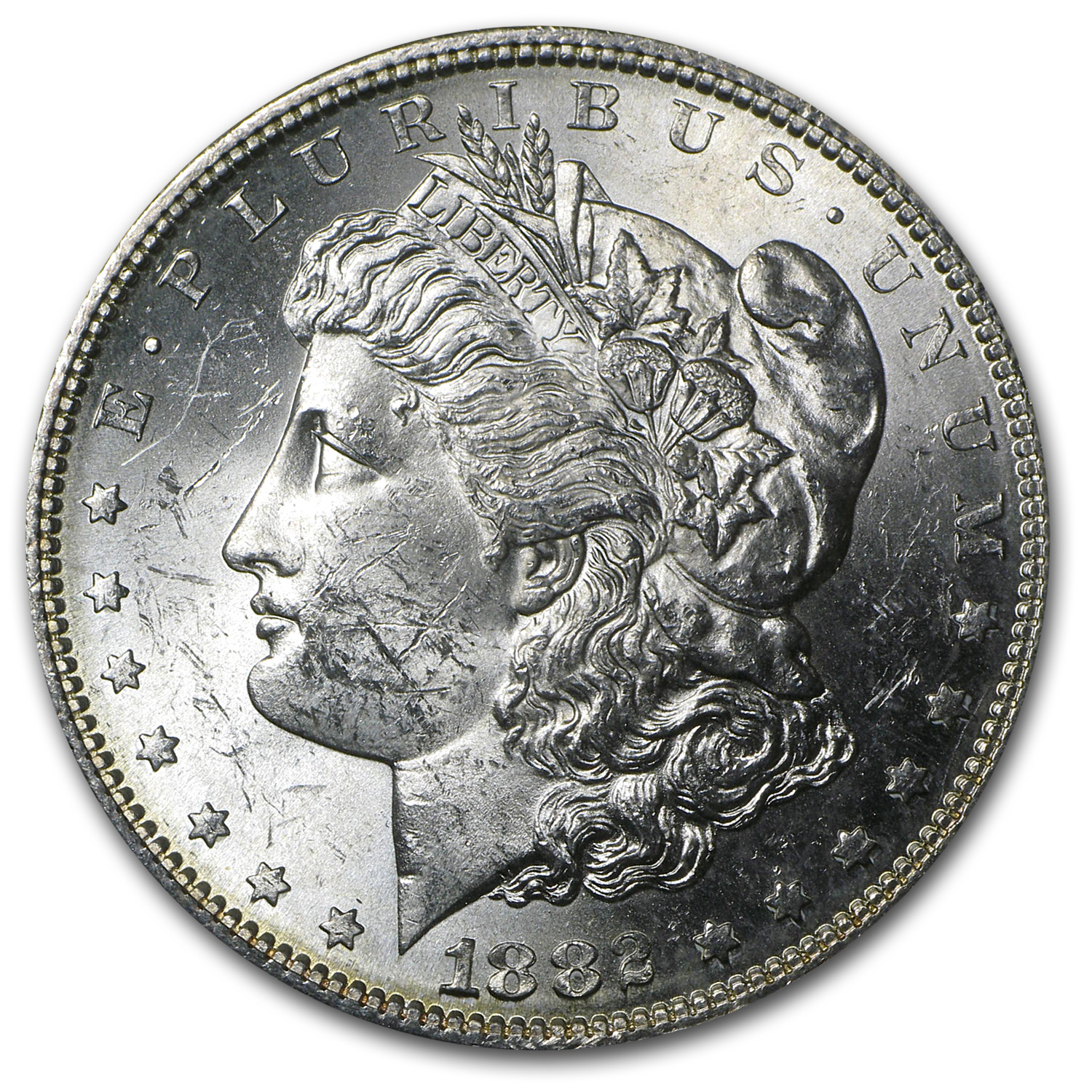 1882 S Morgan Dollar Bu Morgan Dollars 1878 1904