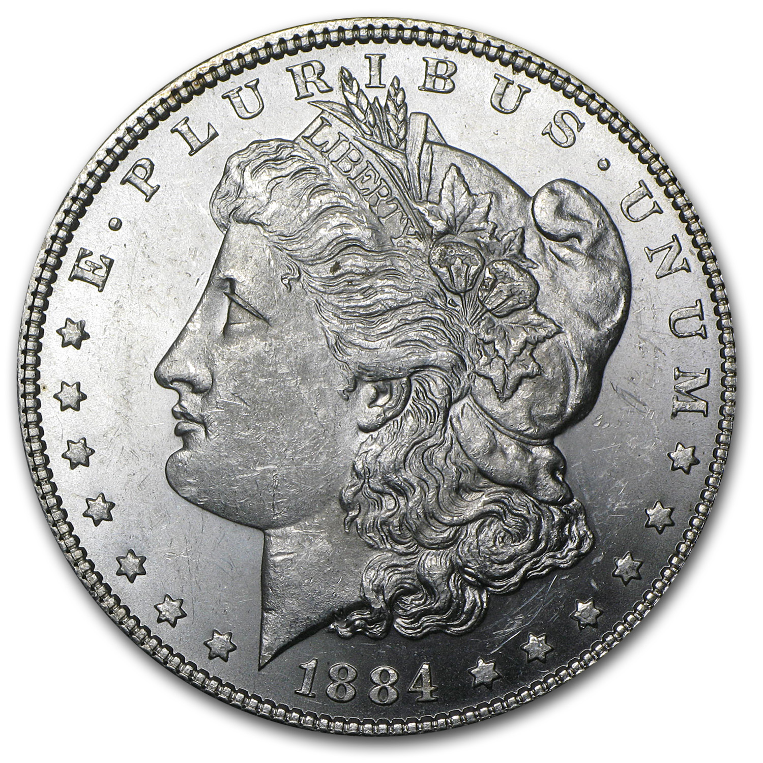 1884 Morgan Silver Dollar BU