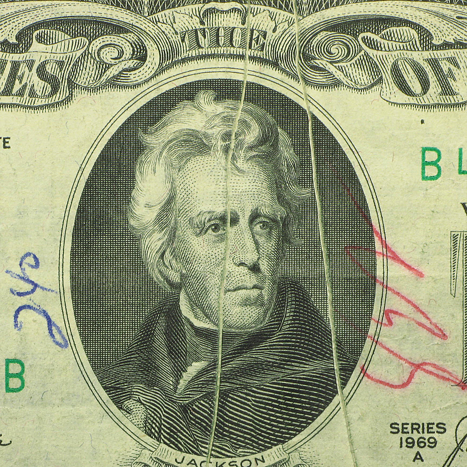 1969-A (B-New York) $20 FRN VF (Error Note)