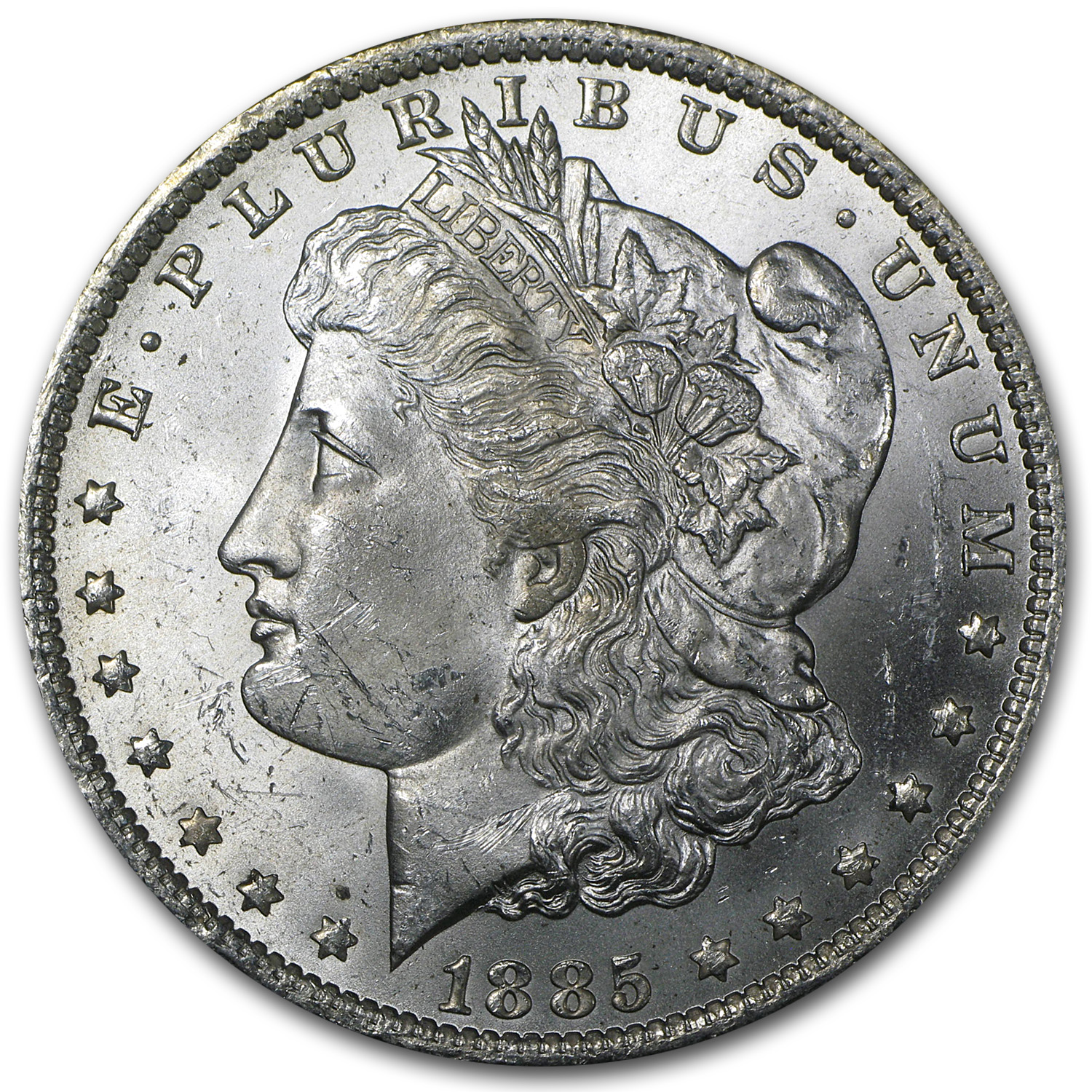 1885-O Morgan Silver Dollar BU