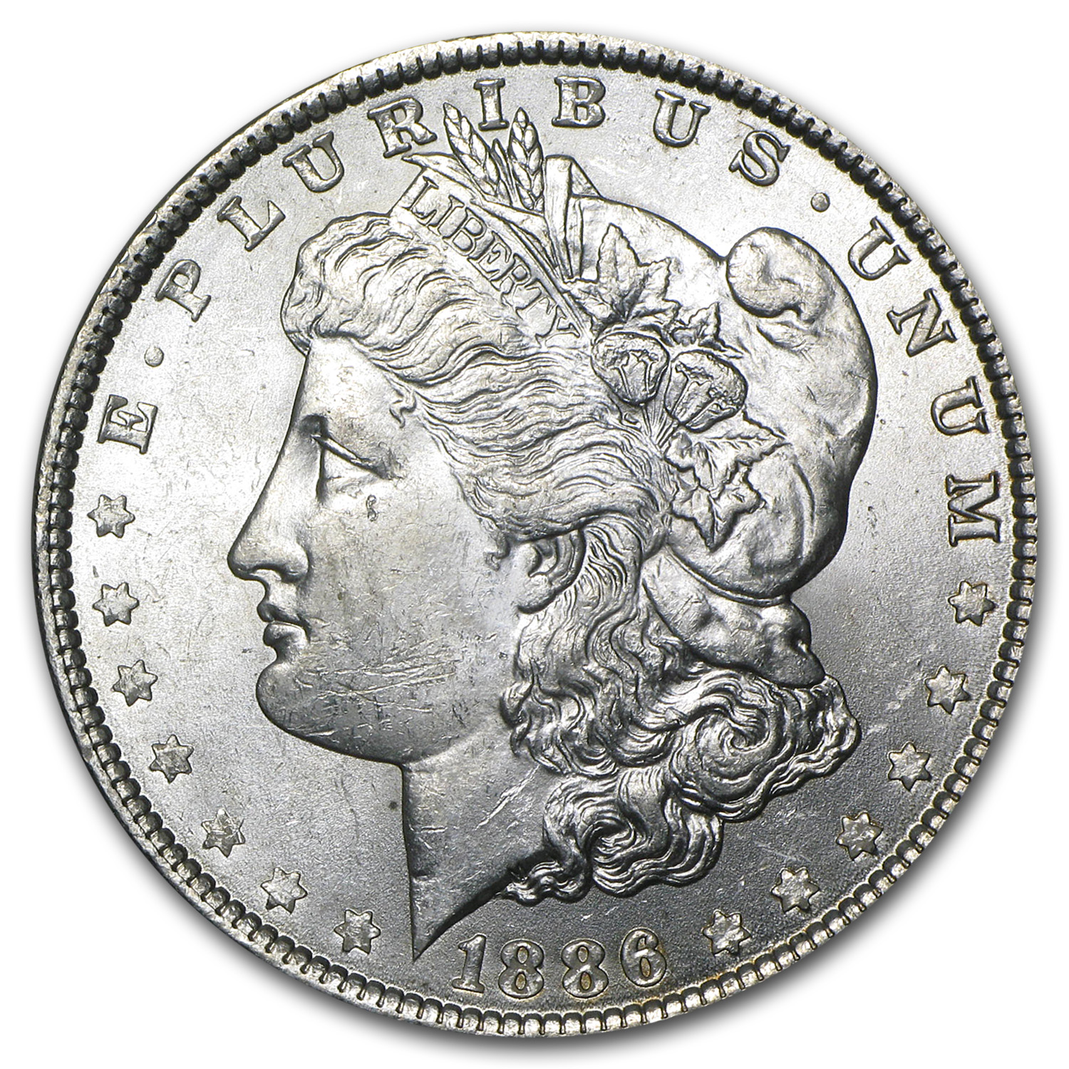 1886 Morgan Silver Dollar BU