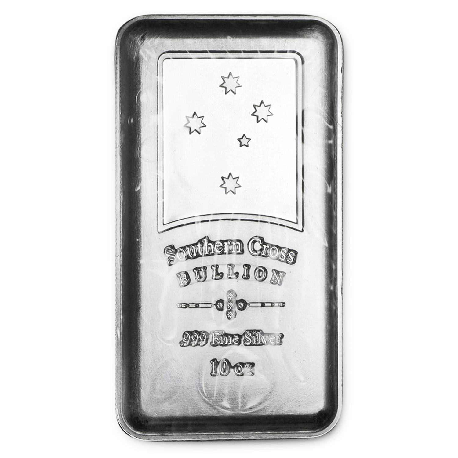 10 oz Silver Bar - Southern Cross Bullion (Security Line)