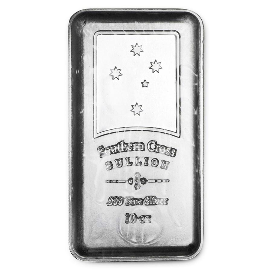 10 Oz Silver Bar Southern Cross Bullion 10 Oz Silver