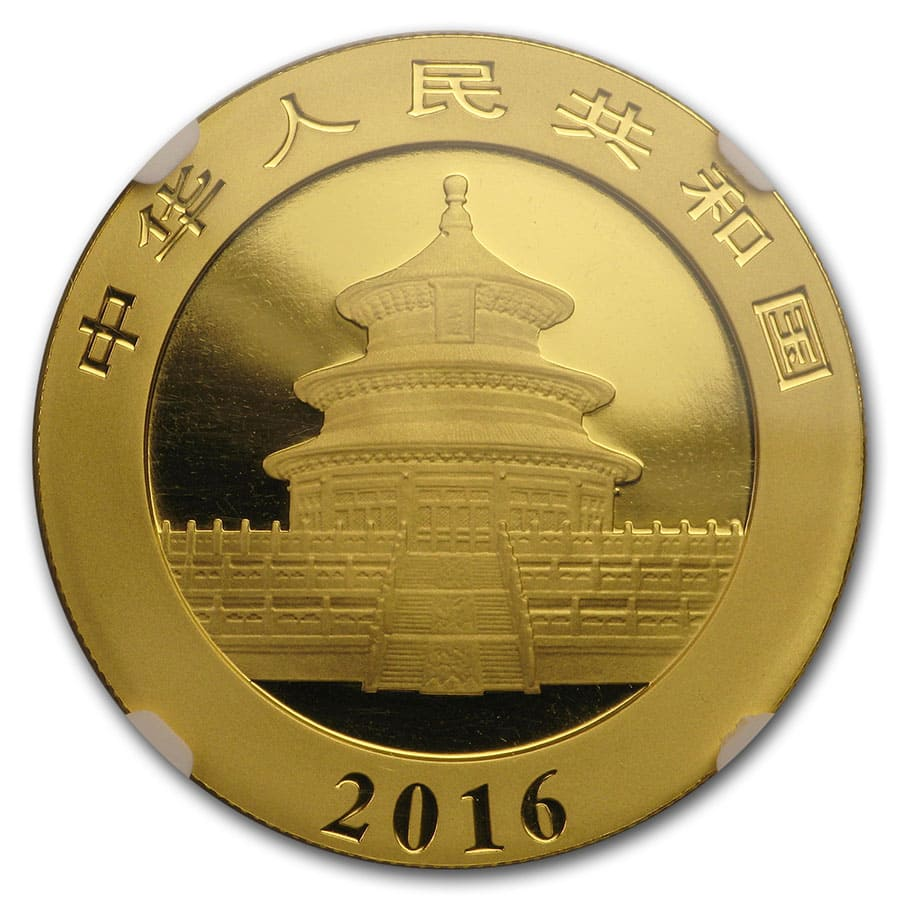 2016 China 30 Gram Gold Panda MS-70 NGC (ER)