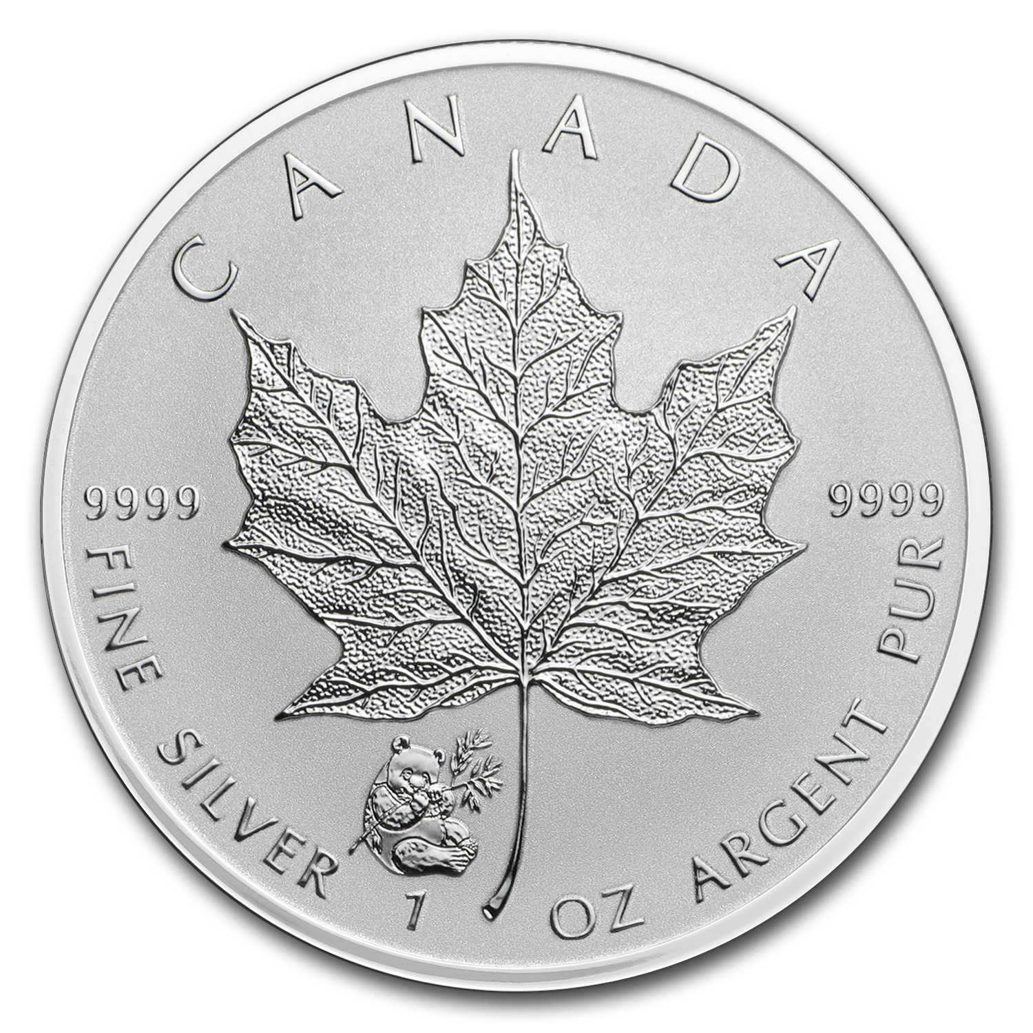 2016 Canada 1 oz Silver Maple Leaf Panda Privy BU