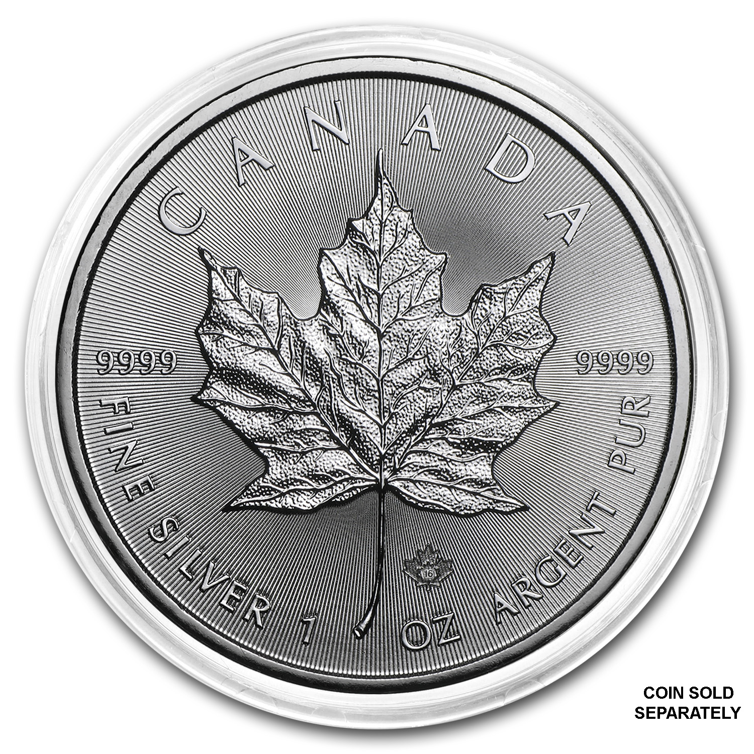Silver Canadian Maple Leaf Direct Fit Capsule — 1 oz