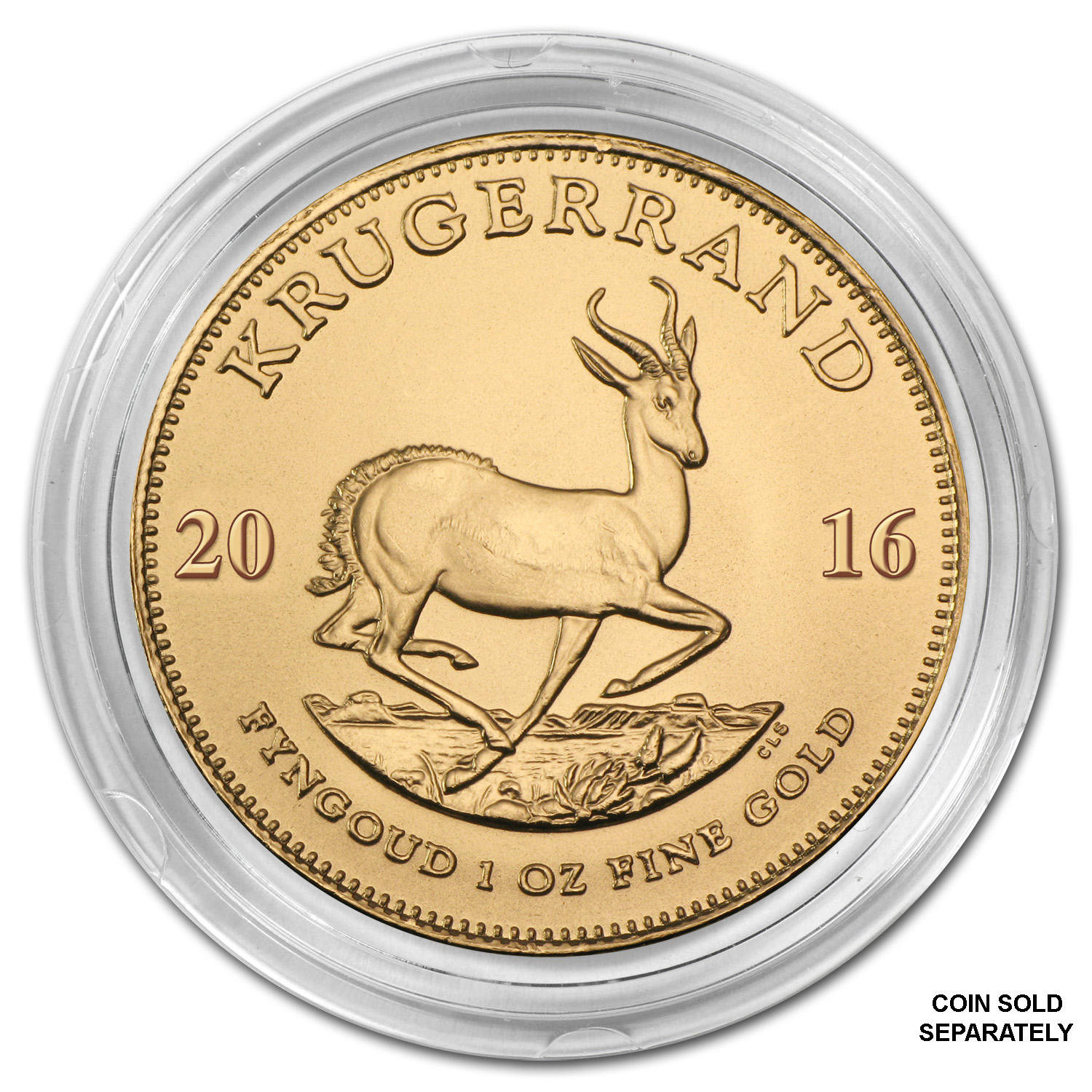 Gold South African Krugerrand Direct Fit Capsule — 1 oz