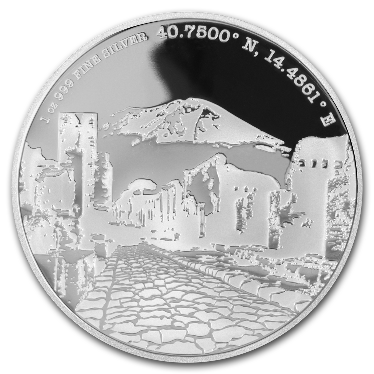 2016 Niue Proof 1 oz Silver Forgotten Cities Pompeii