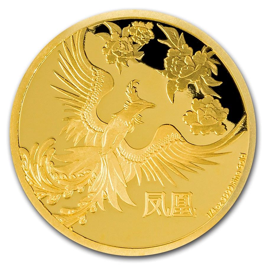 2016 niue 1 4 oz proof gold 25 feng shui phoenix gold from new zealand apmex. Black Bedroom Furniture Sets. Home Design Ideas