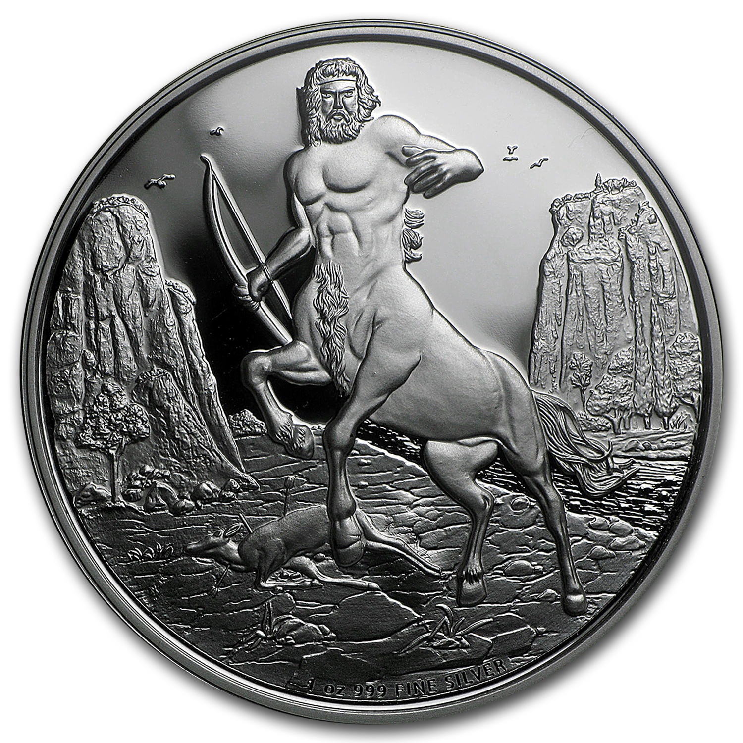 2016 Niue 1 oz Silver $2 Creatures of Greek Mythology Centaur