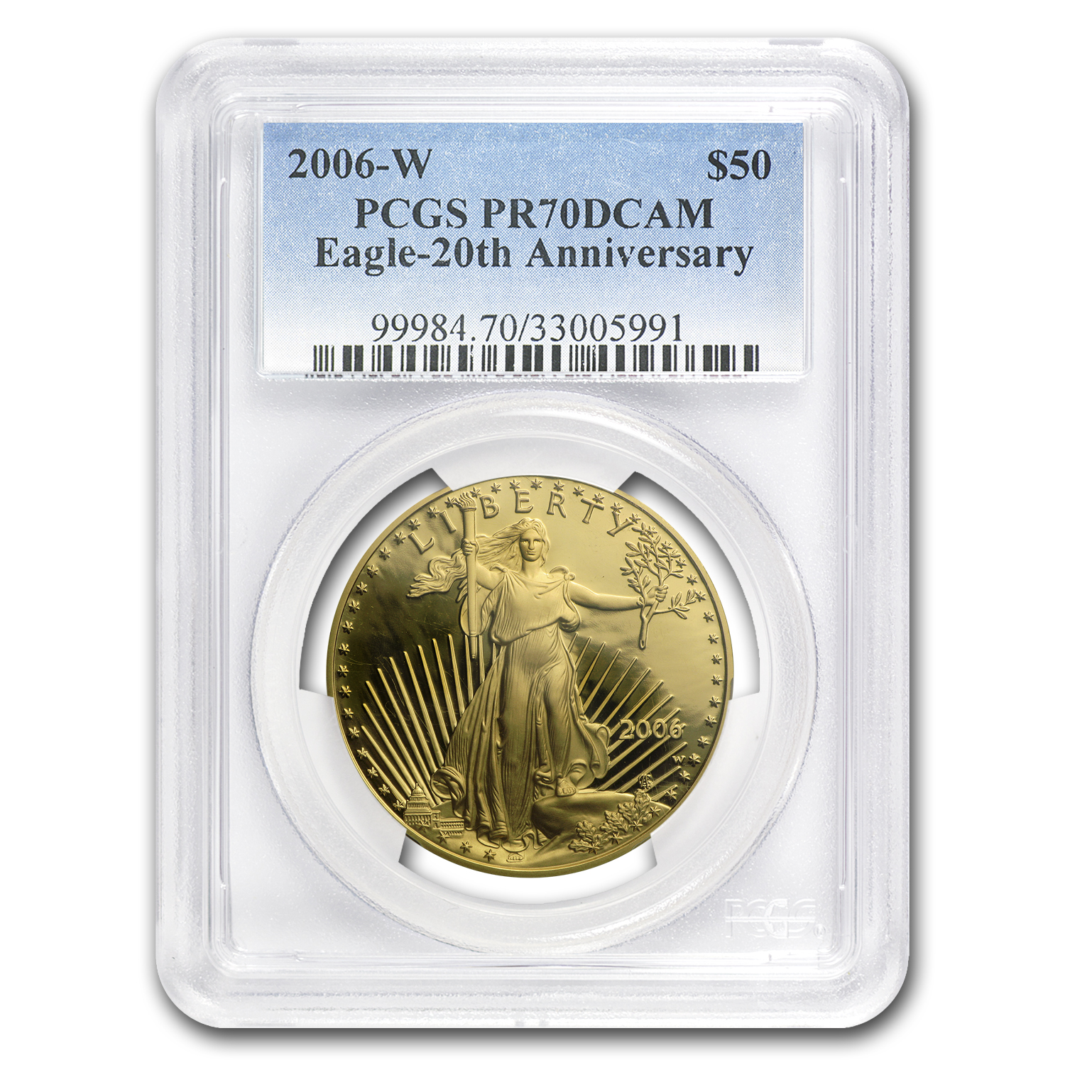 2006-W 3-Coin Gold Eagle Set SP/PR-70 PCGS