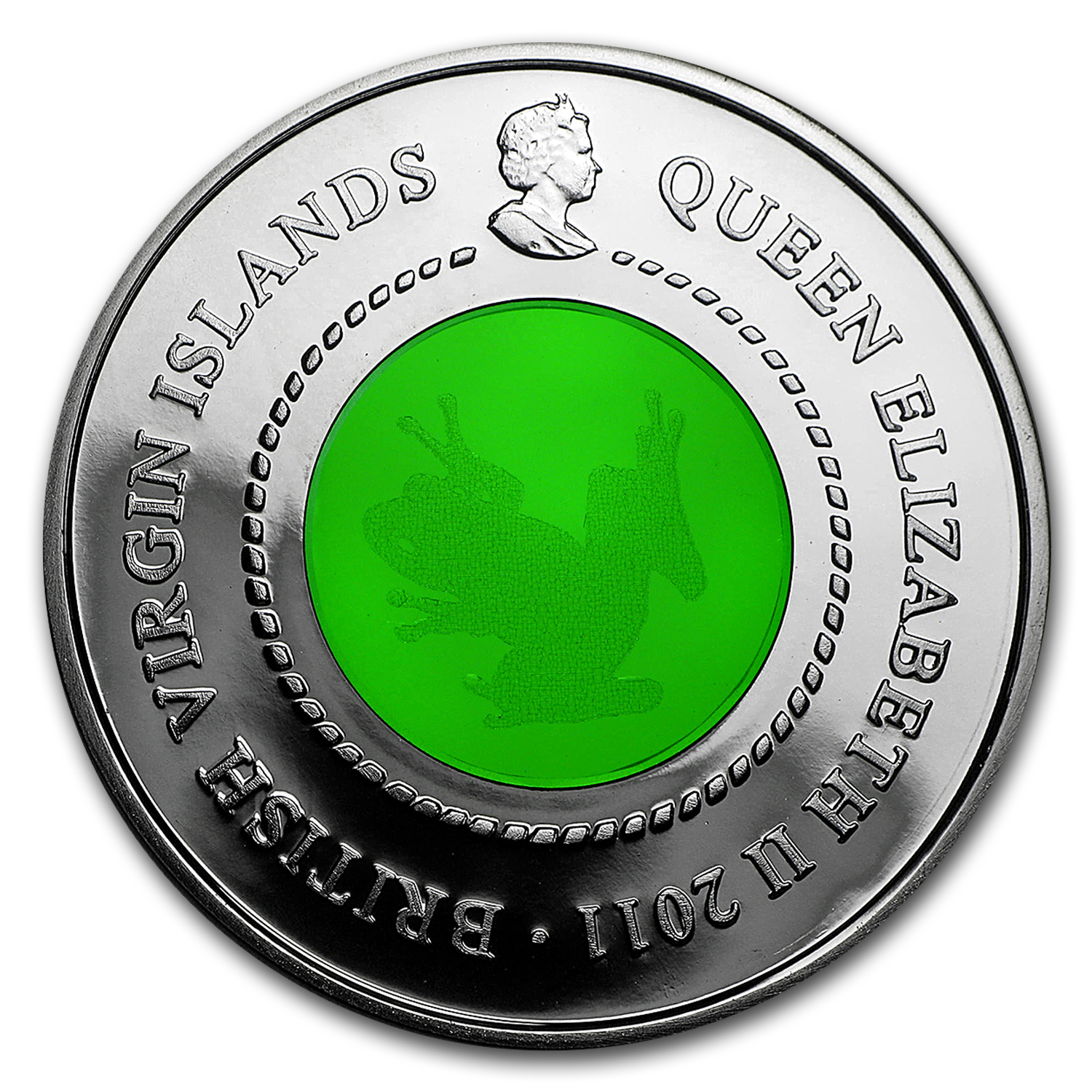 2011 British Virgin Islands Silver $10 Lifecycle of the Tree Frog