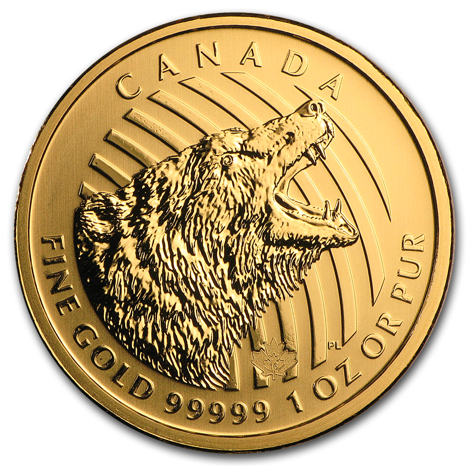 2016 Canada 1 oz Gold Bear .99999 BU (Dmgd/No Assay)