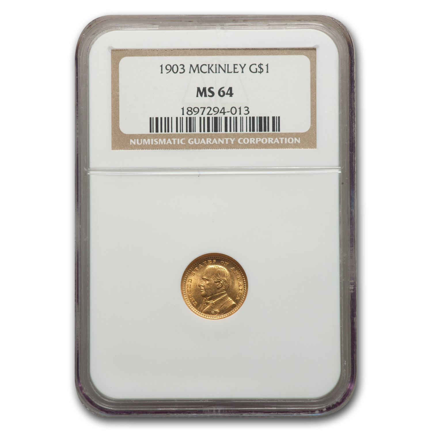 1903 Gold $1.00 Louisiana Purchase McKinley MS-64 NGC
