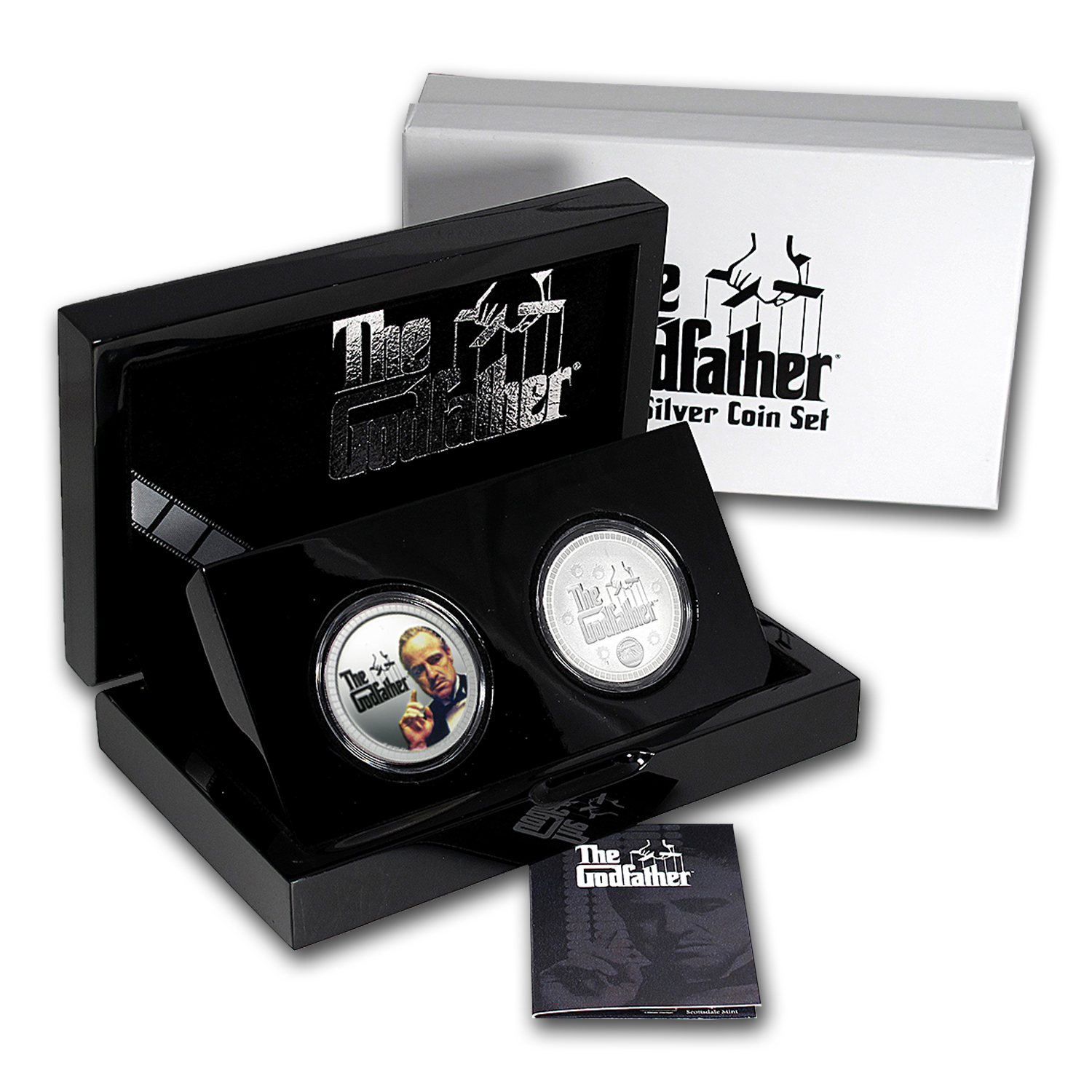 2015 Nuie $2 Silver The Godfather 2-Coin Proof Set
