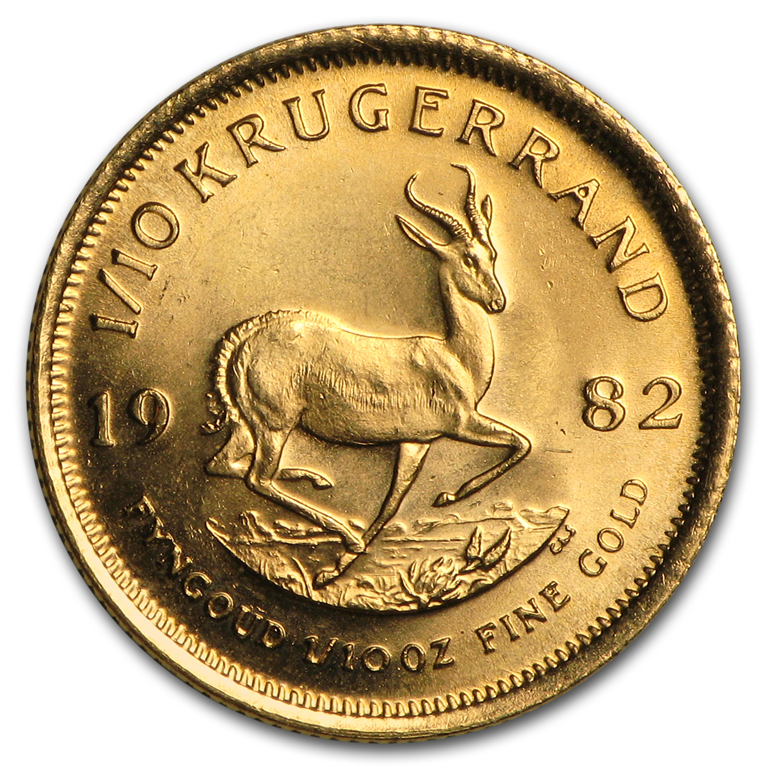 1982 South Africa 1/10 oz Gold Krugerrand BU