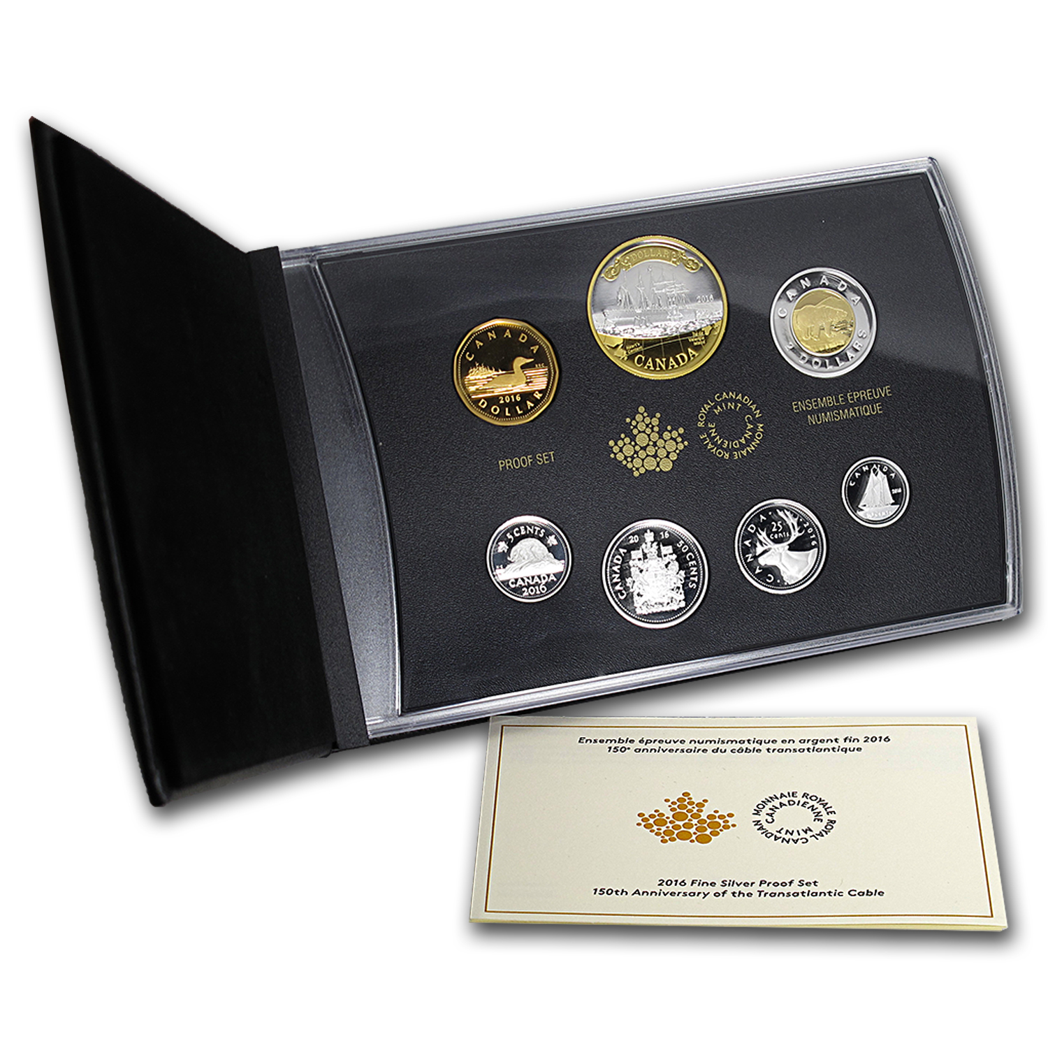 2016 Canada Silver Anniv of Transatlantic Cable Proof Set