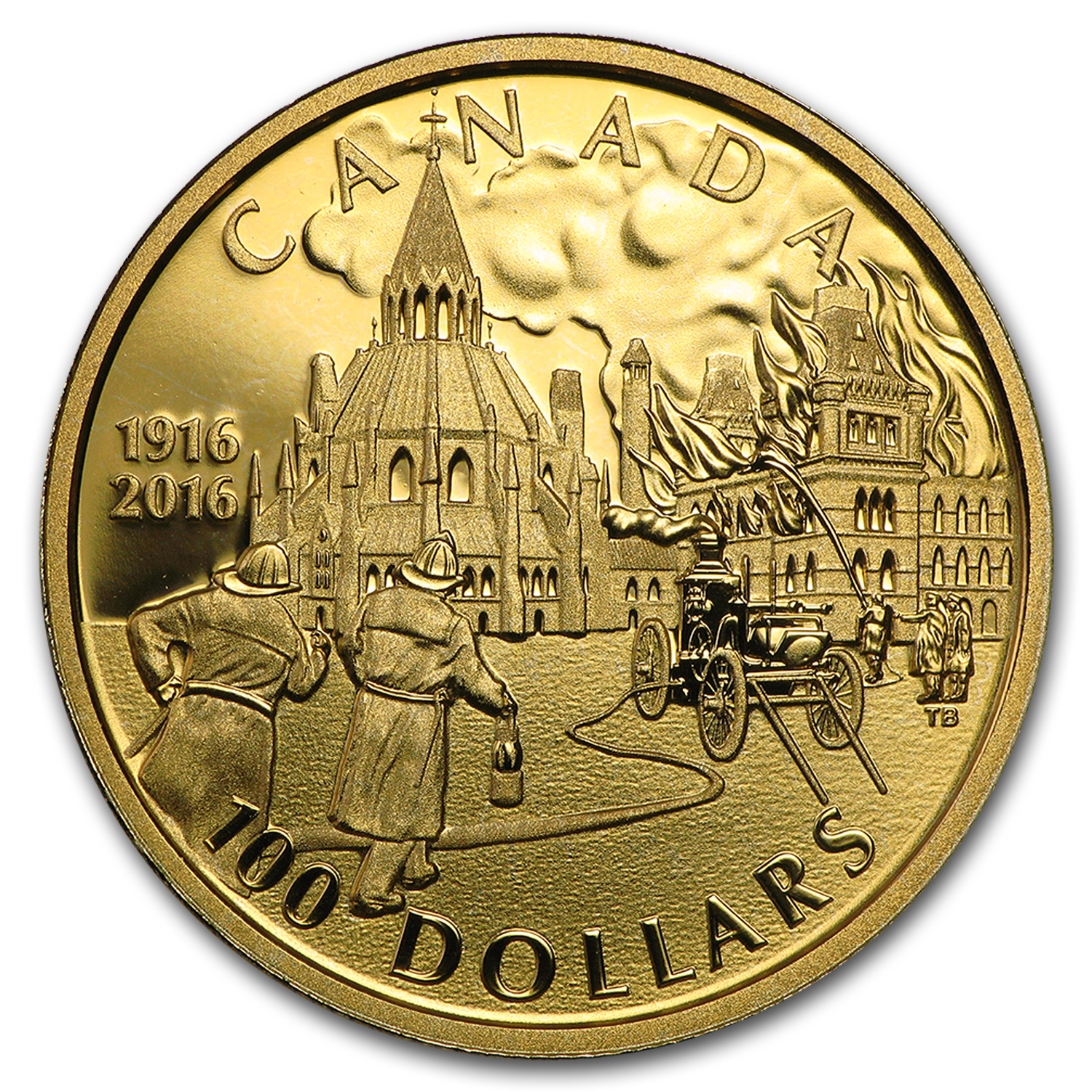 2016 Canada Gold $100 Centennial of the Parliament Buildings Fire