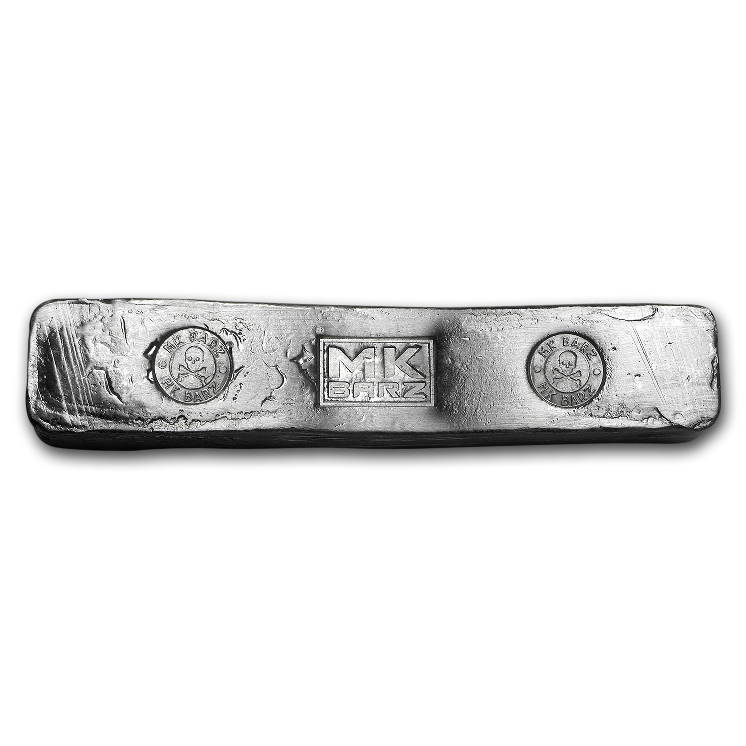 15 oz Silver Bar - MK Barz & Bullion (Skull & Bones, Kit-Kat)