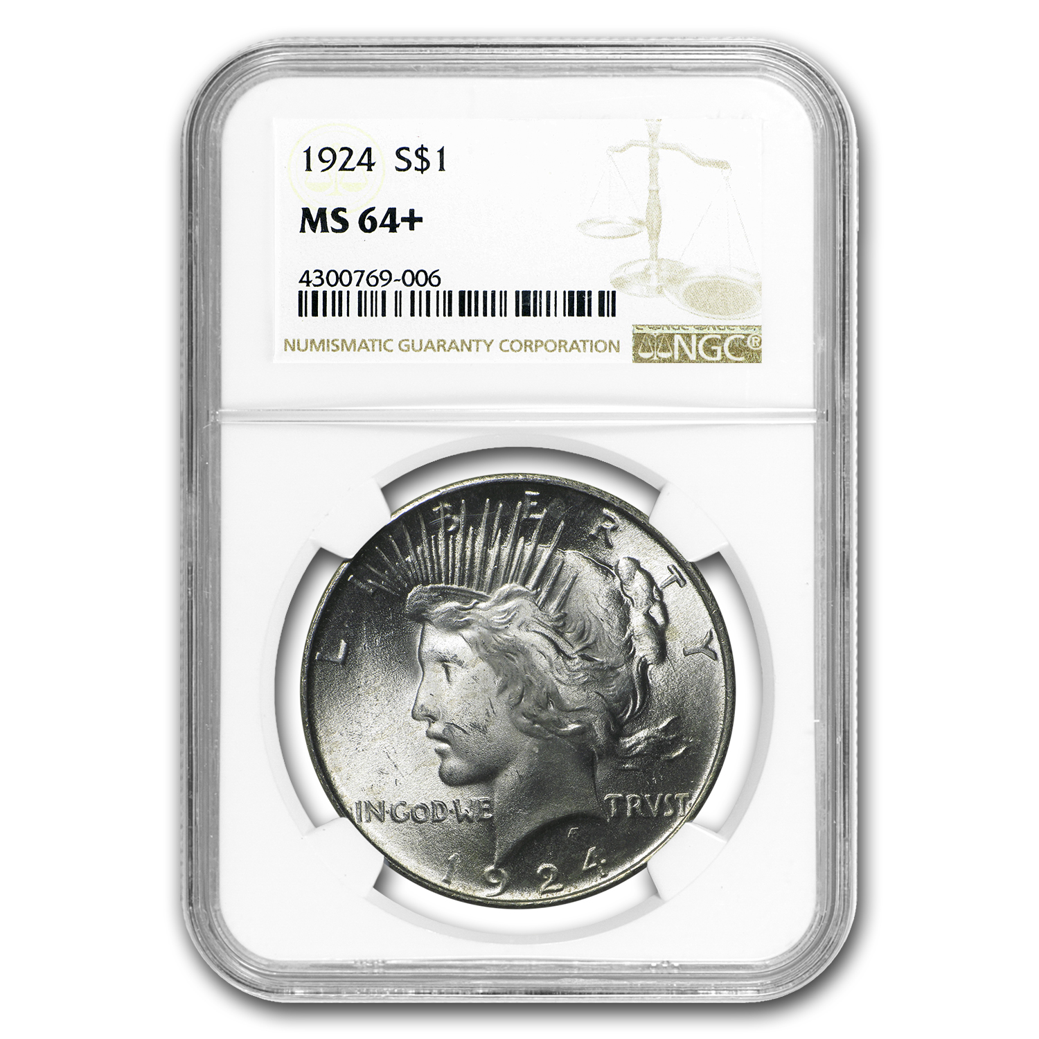 1922-1925 Peace Dollars MS-64+ NGC