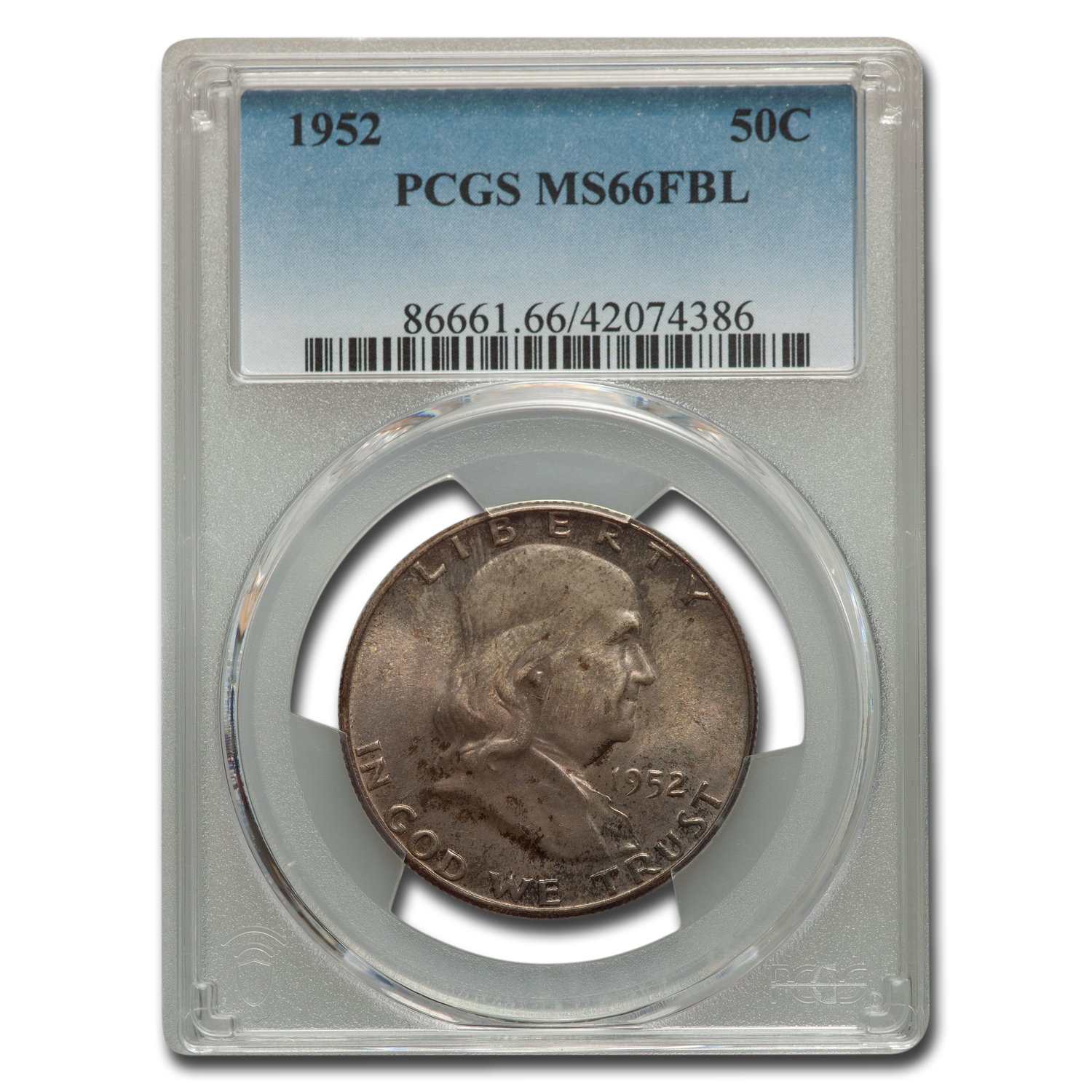 1952 Franklin Half Dollar MS-66 PCGS (FBL)