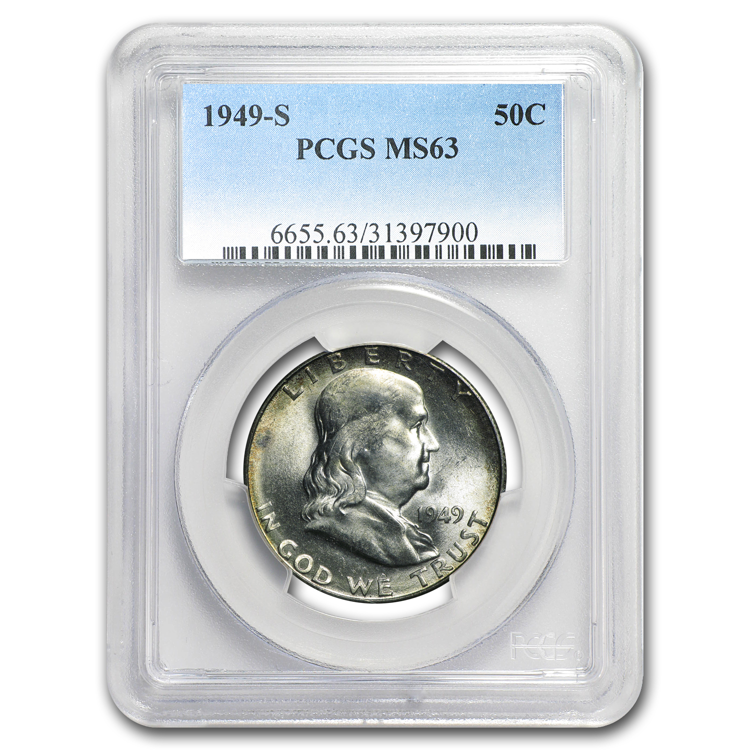 1949-S Franklin Half Dollar MS-63 PCGS