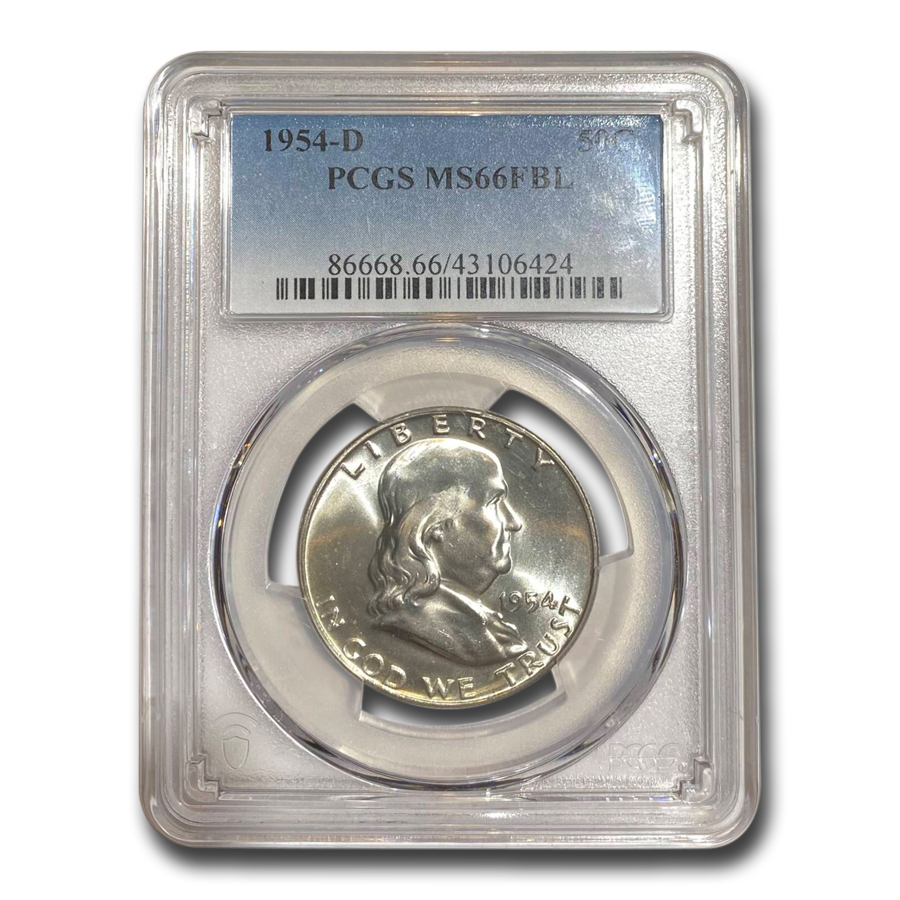 1954-D Franklin Half Dollar MS-66 PCGS (FBL)