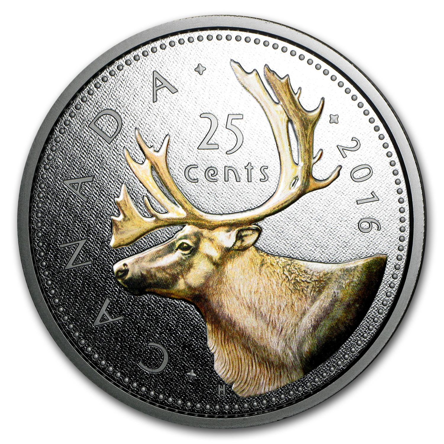 2016 Canada 5 oz Proof Silver Big Coin Series (25 Cent Coin)