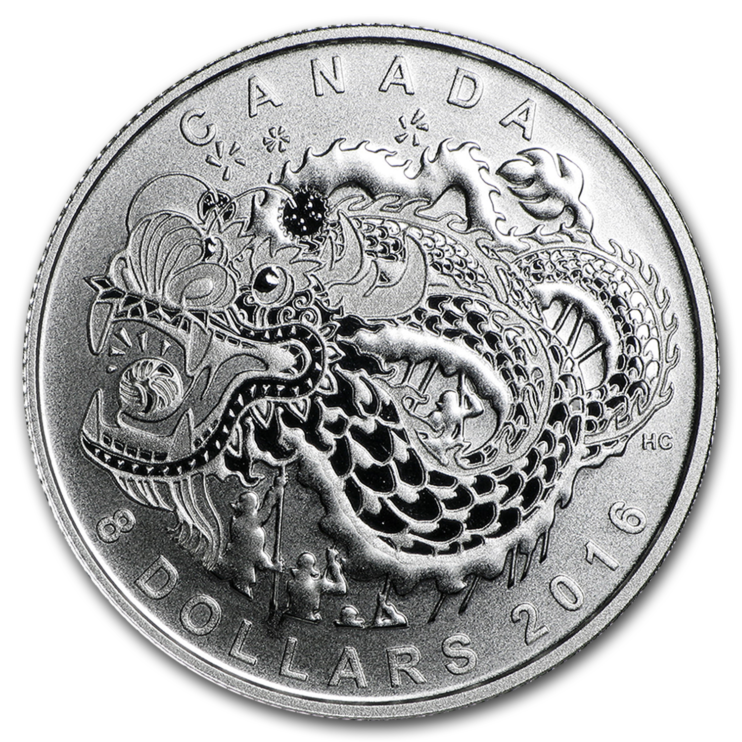 2016 Canada 1/4 oz Silver $8 Dragon Dance